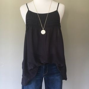 Chloe & Katie Pretty Embroidered Tunic Tank Top